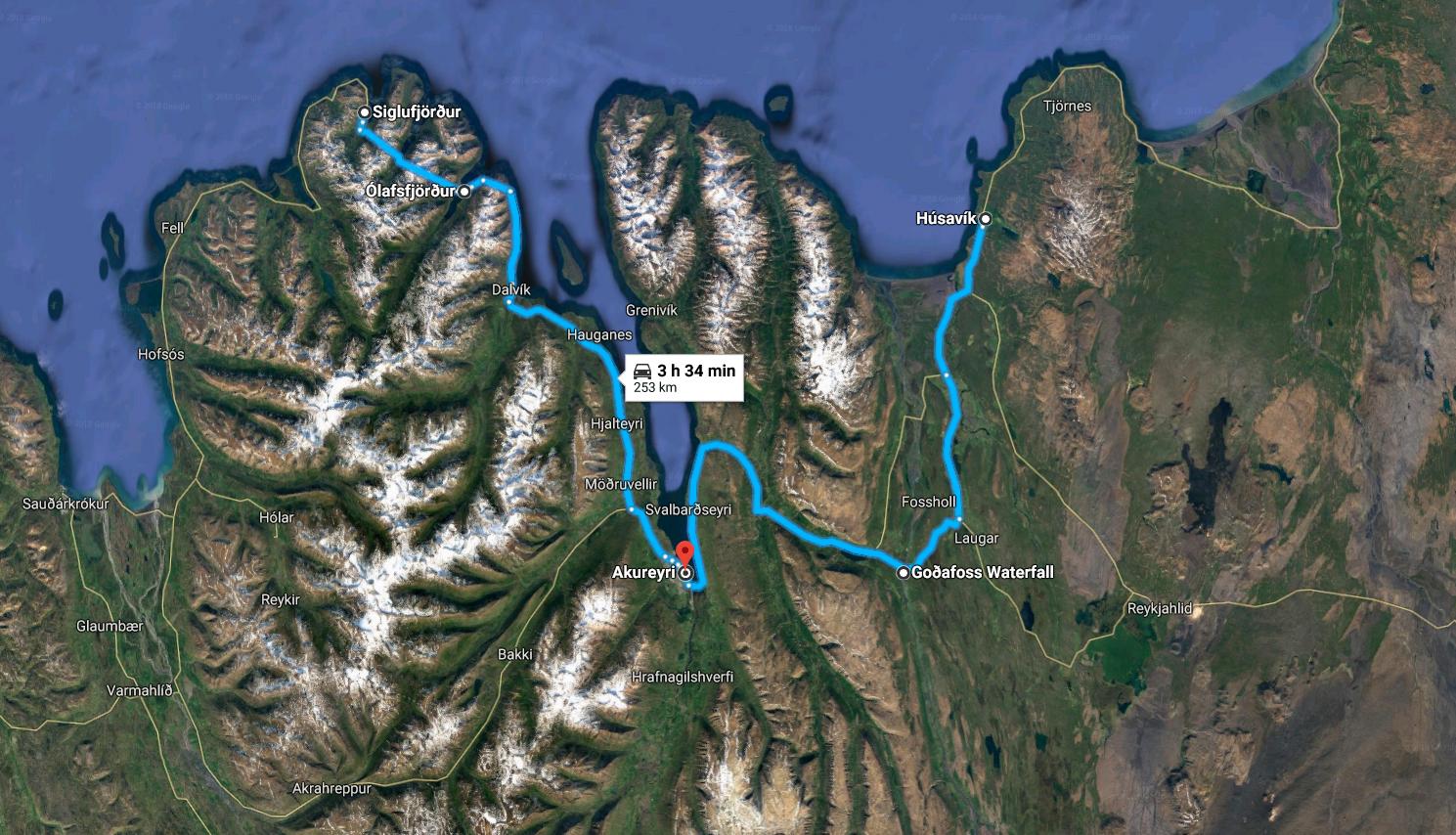 Húsavík - Fiordi del nord - Akureyri