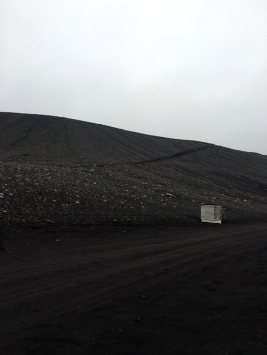 La salita per arrivare a Hverfjall