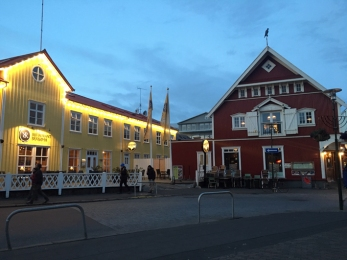 Reykjavík di sera