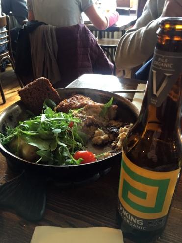 Il buonissimo piatto di baccalà al Messinn